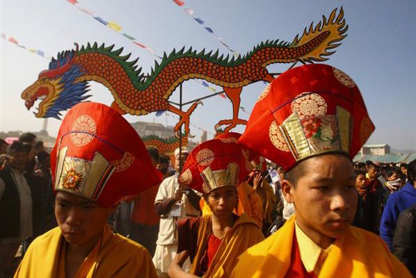Sonam Lhosar Nepal New Year Buddhist Festival Festivals Dance Dancing Music Feast Cultural Tourism