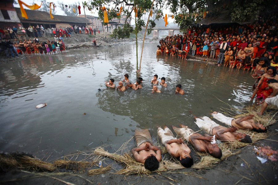 Swasthani Puja Nepal Hindu Religion Festival Festivals Holy River Religious Cultural Tourism