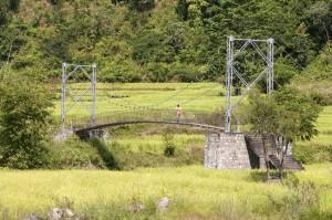 Crossing Bridge Ghorepani Poon Hill Trek trekking hike hiking nepal