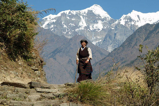 Tibetan Lady Tsum Valley Trek Trekking Hike Hiking Nepal